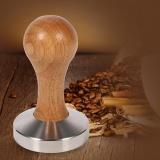 Beli Pegangan Kayu Baja Tahan Karat Kopi Espresso Tamper Press Tool Dengan 58Mm Flat Base Intl Oem Dengan Harga Terjangkau