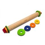 Dimana Beli Wooden Rolling Pin Fondant Adjustable Rolling Pin Multifungsi Baking Stick Ketebalan Embossing Berpola Kue Alat Internasional Oem