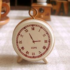 Kayu Karet Stamp Seal Classic Jam Alarm untuk Diary Scrapbook