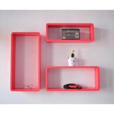 Woodiest - SW1 Rak Dinding Kotak/ Floating Shelves