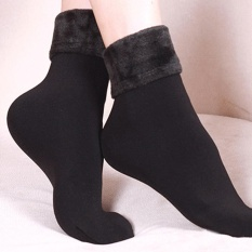 Harga Wool Cashmere Women Thicken Thermal Soft Casual Solid Winter Socks Bk Intl Inesshop Terbaik