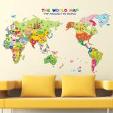Review Peta Dunia Bahasa Inggris Huruf Stiker Dinding Rumah Stiker Pvc Mural Vinil Paper House Dekorasi Wallpaper Ruang Tamu Kamar Tidur Dapur Gambar Seni Diseduh Sendiri Untuk Anak Remaja Dewasa Bayi Senior Bibit International Terbaru