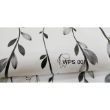 Wps007 Straight Black Flower Wallpaper Dinding Walpaper Stiker Dinding Wallpaper 45X5 Diskon 40