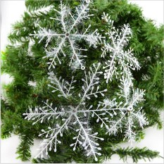 WS 30 Pcs/set Kepingan Salju Ornamen Kepingan Salju Putih Pohon Liburan Decortion Festival Pesta Rumah Dekorasi Natal-Intl