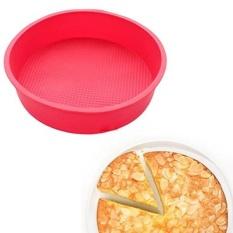 X-haibei 9 INCH Round SILICONE JELLO Gelatin Salad KUE BAKING CETAKAN Panggang Kue Brownies Pizza Cetakan-Intl
