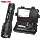 Toko X800 Shadowhawk 6000Lm Tactical Flashlight T6 Led Military Torch Gift Kit Black Intl Lengkap