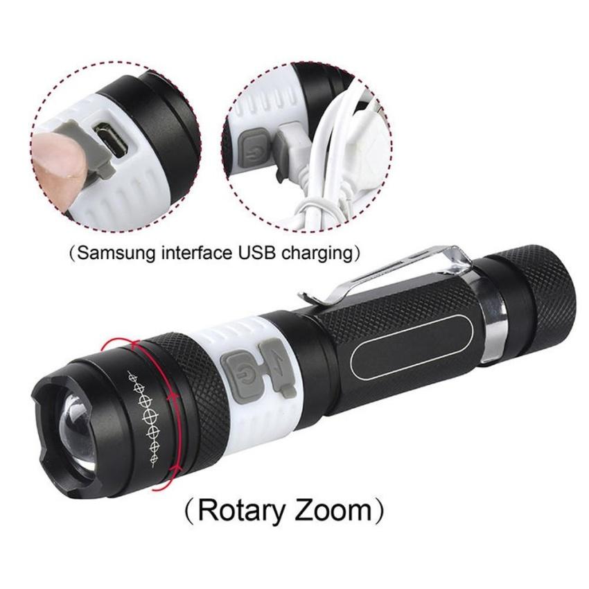 X800 Taktis Zoomable Xml T6 Led Lampu Senter Led Lampu Obor Intl Original
