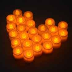 Diskon Xcellent Global Set 24 Amber Lilin Led Hong Kong Sar Tiongkok