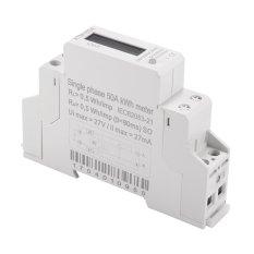XCSOURCE Digital LCD 50Hz 5 (50) 230 V Energi Meter Fase Tunggal DIN Rail Kilowatt Jam Listrik KWH Power TE746-Intl
