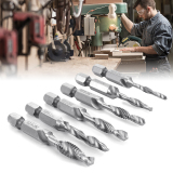 Jual Xcsource Hss 1 4 16 Cm Shank Hex Mesin Tekan Sedikit Set 6 Pcs Twist Spiral Flute Deburr Countersink Pemotongan Lubang Alat Bi161 Branded