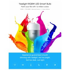 Toko Xiaomi Yeelight Smart Led Rainbow Bulb Ipl E27 White Banten