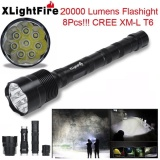 Harga Xlightfire 20000 Lumens 8X Cree Xml T6 5 Mode 18650 Super Bright Led Flashlight Intl Original