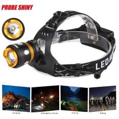 XM-L T6 LED Rotary Cahaya Fokus Jarak Jauh Headlights Tail Lamp Black-Intl