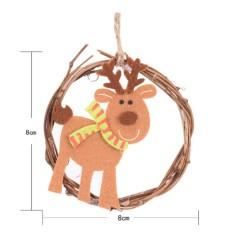 Xmas Rotan Liontin Pohon Natal Gantung Ornamen Tahun Santa Ornamen-Internasional