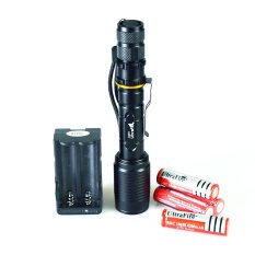 Jual Xws Led Senter Torch Light Cree Xm L T6 3600Lm Hitam Baterai Dan Charger Disertakan Flashlight Grosir
