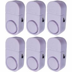 Yangunik Paket 6 Buah Alarm Pintu Anti Maling Kecil - Putih