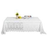 Diskon Ybc 90 160Cm Rectangle Tablecloth Lace Embroidery Table Decoration White Oem Di Tiongkok