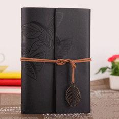 Jual Ybc Vintage Daun Buku Catatan Kecil Terikat Diary Memo Notebook Hitam Ori