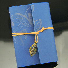 Ybc Vintage Daun Buku Catatan Kecil Terikat Diary Memo Notebook Biru Tiongkok Diskon