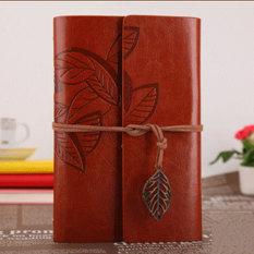 Beli Ybc Vintage Daun Buku Catatan Kecil Terikat Diary Memo Notebook Coklat Online Murah