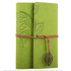 Jual Ybc Vintage Daun Buku Catatan Kecil Terikat Diary Memo Notebook Hijau Muda Oem Original