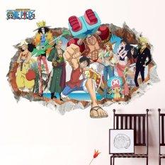 Cuci Gudang 3 D Satu Piece Anime Luffy Mural Dinding Stiker Dapat Dilepas Anak S Kamar Decor Yika