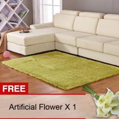 Promo Yika Anti Selip Berbulu Karpet 80 Cm X 120 Cm Hijau Membeli 1 Mendapatkan Freebie