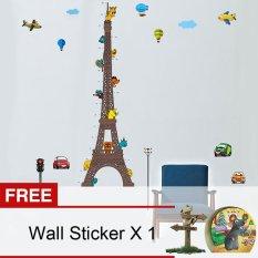 Harga Yika Menara Eiffel Kartun Grafik Pertumbuhan Tinggi Anak Stiker Dinding Aneka Warna Membeli 1 Mendapatkan Gratisan Paling Murah