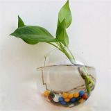 Beli Yika Pot Bunga Gantung Kaca Vas Terarium Wadah 12Cm Putih Terbaru
