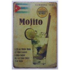 Yika Vintage Algam Lukisan Retro Frosted Lembar Besi Menggambar Logam Cafe Hias Bar Rumah