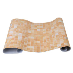 Toko Yingwei Mozaik Dapur Aluminium Foil And Label Berperekat Anti Minyak Kertas Stiker Dinding Oranye Lengkap