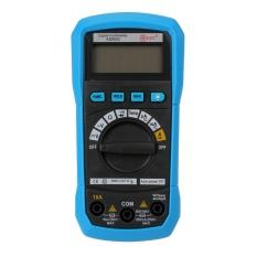 Yiokmty Pengukuran Jarak Otomatis Multimeter Digital Tegangan/Arus/Temperatur Tester DMM, Blue-