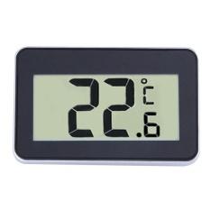 Yjjzb Kobwa Ipx3 Anti-Air Digital Layar LCD Besar Kulkas Pembeku Ruang Termometer Mudah Dibaca dengan Magnetik Belakang Gantungan Kait -Internasional