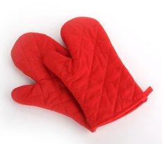 YOCHO 1 Pcs Desain Cek Cotton Heat Resistant Glove Baking Oven Mitt (Merah)-Intl