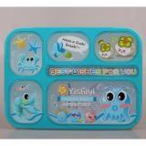 Beli Yooyee 589 Lunch Box Grid Bento Kotak Bekal Makan Lunchbox Yoo Yee 5 Sekat Anti Bocor Tumpah Biru Seken