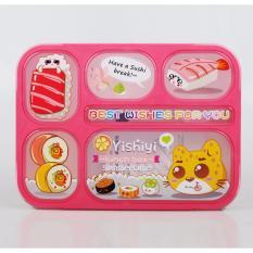 Tips Beli Yooyee Kotak Makan Grid Bento Lunch Box 6 Sekat Anti Bocor Karakter