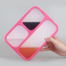 Beli Yooyee Leak Proof Grid Lunch Box Sekat 3 Kotak Makan Anti Tumpah 579 Pink Cicil
