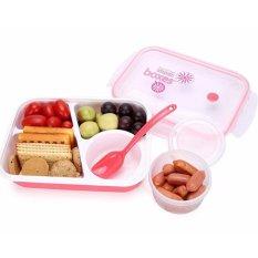 Harga Yooyee Lunch Box 4 Sekat Bento 415 Kotak Bekal Makan Tempat Sup Merah Yang Bagus