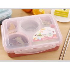 Beli Yooyee Lunch Box 5 Sekat Bento 393 Kotak Bekal Makan Tempat Sup Pink Kredit Jawa Barat