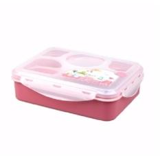 Beli Yooyee Lunch Box 5 Sekat Bento Kotak Bekal Makan Tempat Sup Pink Cicil