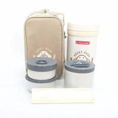 Promo Yoshikawa Kotak Makan Therrmal 1 Liter Do100 Krem