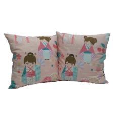Toko Yourin S 2 Buah Sarung Bantal Sofa Kursi Motif Jepang 02 Set Isi 2 Lengkap