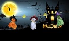 Yugos Halloween Dekorasi Hanging Decoration Props, Halloween Banner Sign Hantu Doll Pendants untuk Rumah,