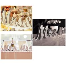Yuwen Kayu Mr Mrs Letters Daftar untuk Meja Pernikahan, Alat Peraga Foto, Meja Pesta, Top Makan Malam, Rustic Dekorasi Pernikahan-Intl