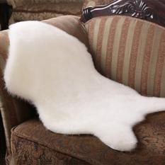 Zhuoda Australia Wol Karpet Sofa Bantal Bantalan Pad Oleh TheBed Ruang Duduk Kamar Tidur (Putih)-Intl
