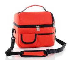 Harga Ritsleting Makan Cooler Storage Bag Piknik Camping Thermal Makanan Warmer Botol Isolasi Bag Orange Intl Tiongkok