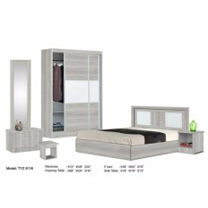 ZL Bedroom Set comes with Wardrobe, Bed, Dresser, Side table (Delivery& Installation to Klang Valley Only) - intl