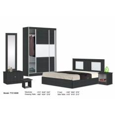 ZL Kamar Tidur Set Dilengkapi dengan Lemari Pakaian, Tempat Tidur, Lemari, Meja Samping (Pengiriman & Amp; Pemasangan untuk Klang Valley Hanya) & Nbsp;-Intl