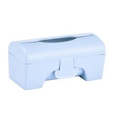 ZL KCmall Plastik Colorful Dapur Kamar Mandi Dipasang Di Dinding Sampah BagStorage Box Container Holder (Biru) & Nbsp; -Intl