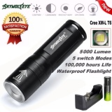 Toko Zoomable 5000 Lumen 3 Mode Cree Xml T6 Led Lampu Lampu Obor 18650 Charger Not Specified Online